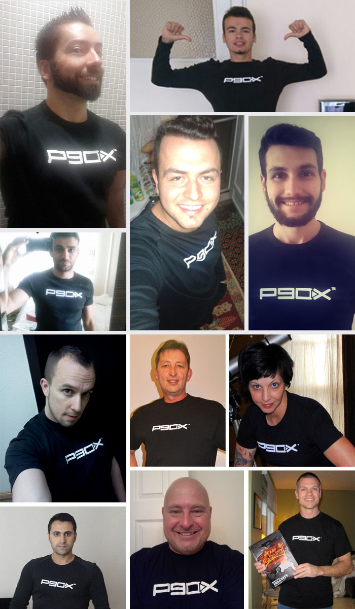 P90X-Tshirtler Son