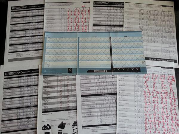 Aykut P90X Egzersiz Kayıt Formları